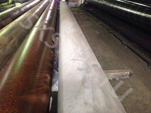 Пескаструйная обработка труб , для изоляции ВУС и УС типа